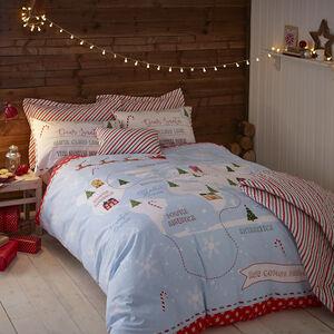 Santa Map Duvet Cover