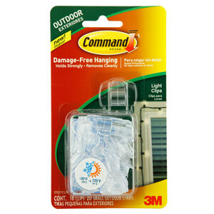 Command Strips Outdoor Light Clips 16 pack 069864