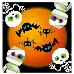 Halloween Under The Moon 12 Pack Napkins