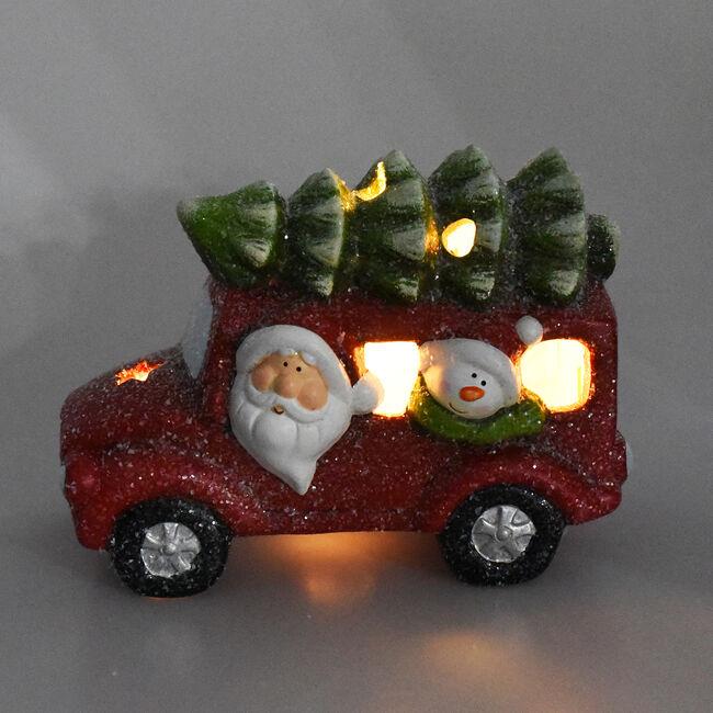 Lightup Santa Car with Tree