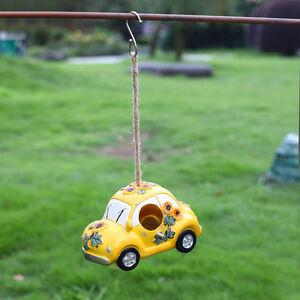 Beetle Car Birdhouse - Yellow