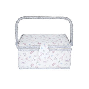 Pins N Needles Fabric Sewing Basket
