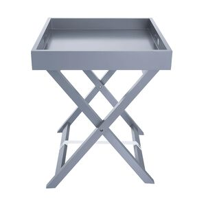 Butlers Small Tray Table - Soft Grey