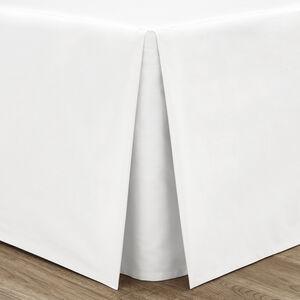 SINGLE PLATFORM VALANCE Luxury Percale White
