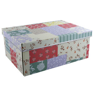 Collapsible Storage Box Patchwork Large