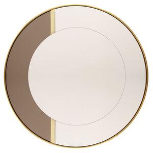 80cm Circular Gold Leaf Mirror