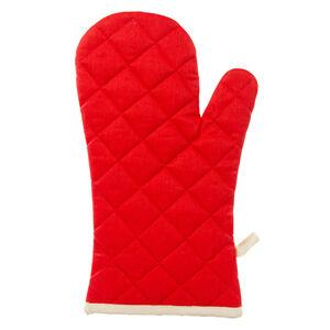 Two Tone Single Oven Glove Red/Cream