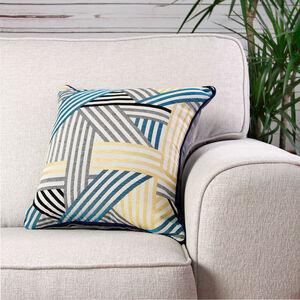 Geo Cushion Cover Teal 2 Pack 45cm x 45cm