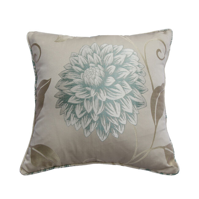 Floral Burst Cushion 45x45cm - Duck Egg