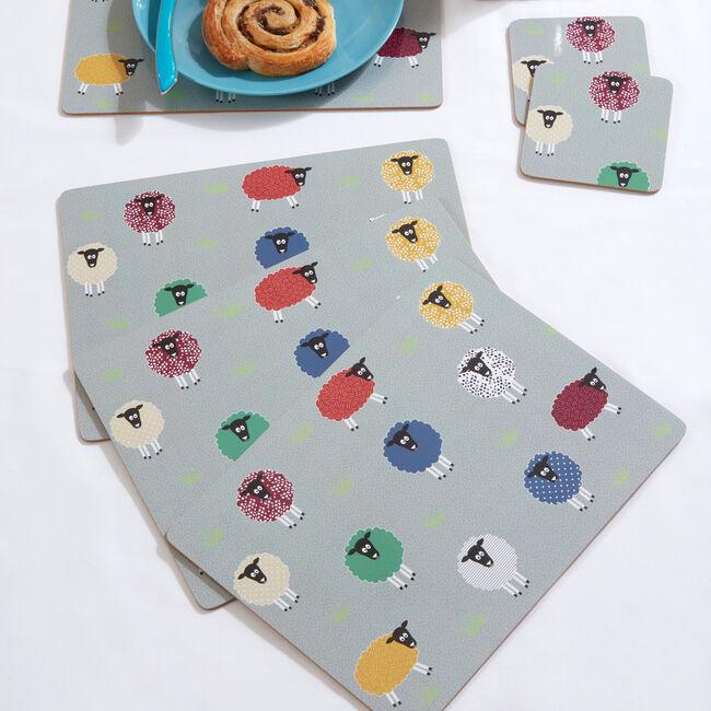 Sheep Mats & Coasters 4 Pack