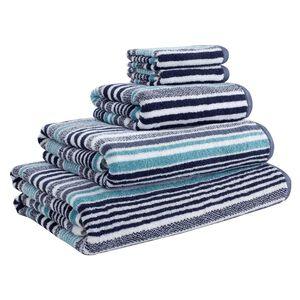 500GSM MCMARTIN STRIPE AQUAMARINE Hand Towel