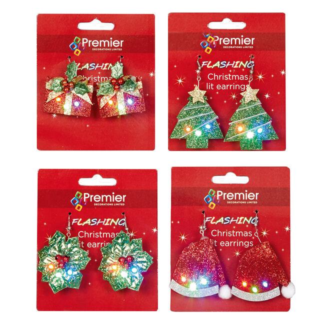 Light Up Christmas Earrings
