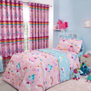 Princess Dreamland Bedspread 200 x 220cm - Pink