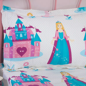 Princess Wonderland Oxford Pillowcase Pair - Pink