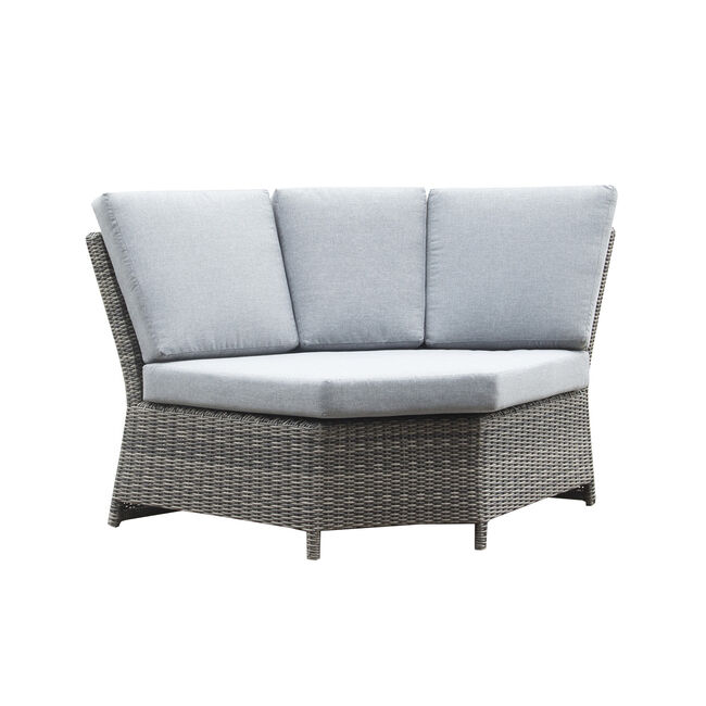 Avola 6 Piece Corner Sofa Set & Firepit - Grey