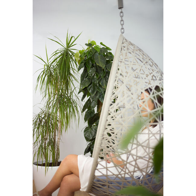 Grey Hanging Relaxer Chair