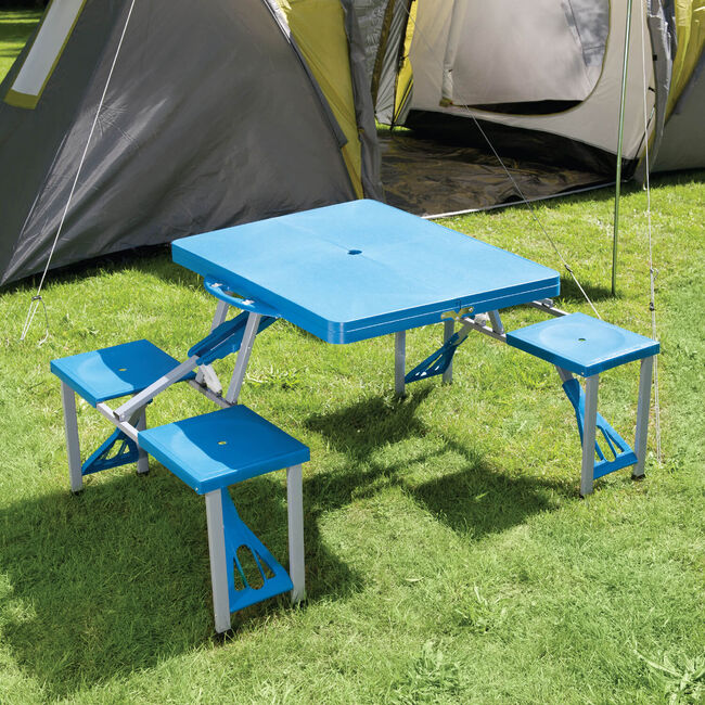 Folding Picnic Table With 4 Seats