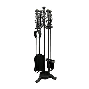Silverflame Companion Set Black with Spiral 26""