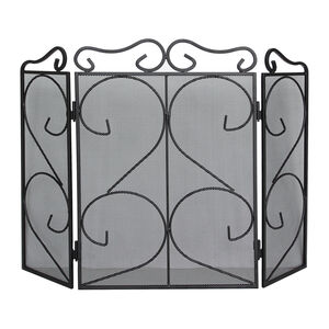 Silverflame 3 Panel Decorative Firescreen