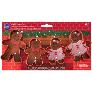 Wilton Gingerbread Family 4 Cookie Cutters
