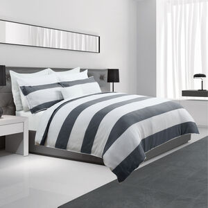 SINGLE DUVET COVER Waffle Grey
