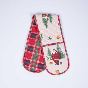 Vintage Santa Double Oven Glove