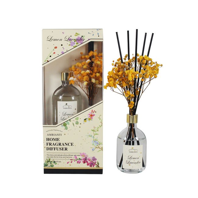Ambianti Dried Flower Lemon Lavender Reed Diffuser