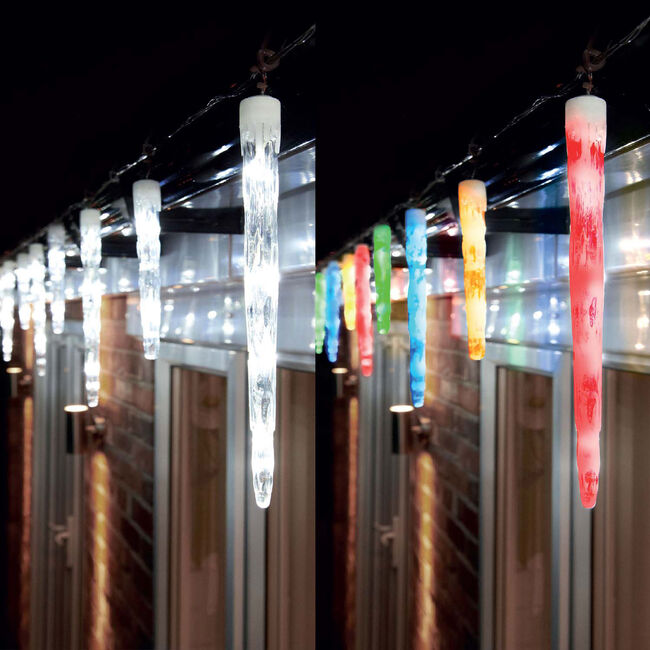 24 Colour Changing Icicle Lights