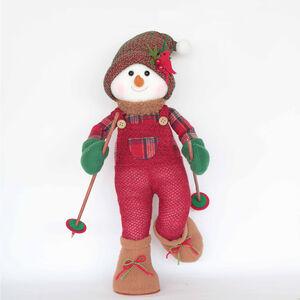 Tartan Skiing Snowman