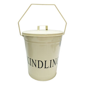 Silverflame Cream Kindling Bucket