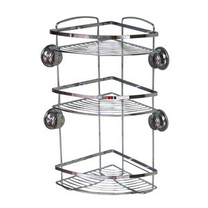Chrome 3 Tier Suction Bathroom Caddy