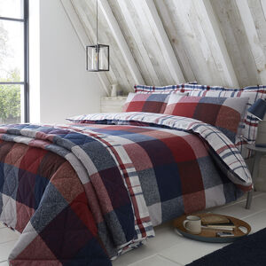 SINGLE DUVET COVER Brushed Cotton Tierney Check