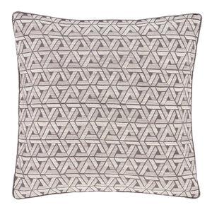 Triangles Cushion Grey 58cm x 58cm