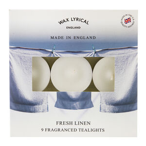 Fresh Linen Box of 9 Tealights