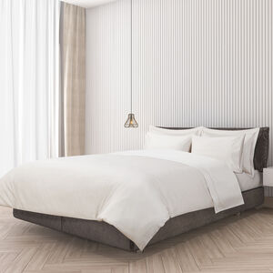 SINGLE DUVET COVER Single Stitch Putty 400tc