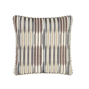 Ikat Stripe Natural Cushion 45cm x 45cm