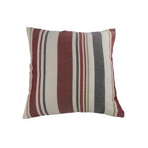 Fleming Stripe Red/Grey Cushion