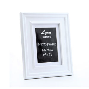 Lyon White Photo Frame 4x6""