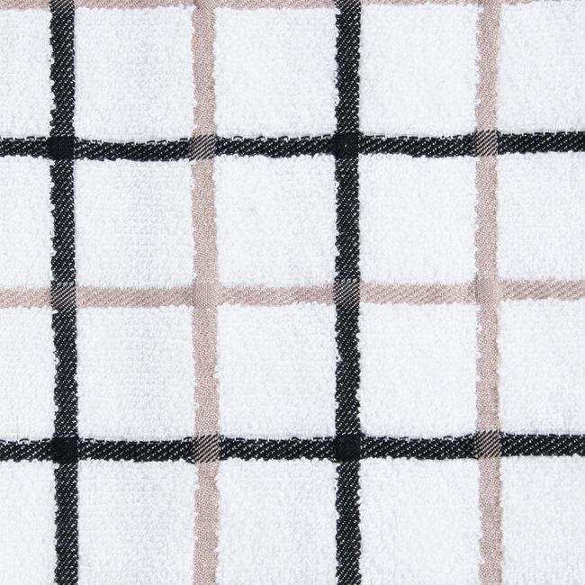 Multi Check Tea Towel - Black