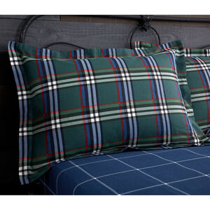 Brushed Cotton Rolle Check Oxford Pillowcase Pair