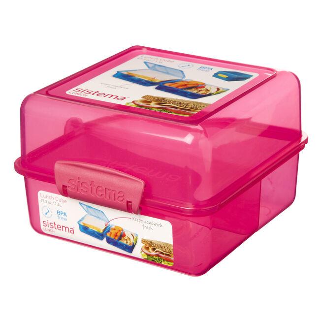 Sistema Klip It Pink Lunch Cube