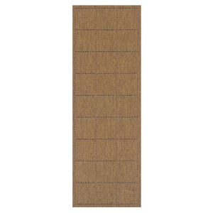 Checkered Flatweave Runner Natural 60cm x 230cm