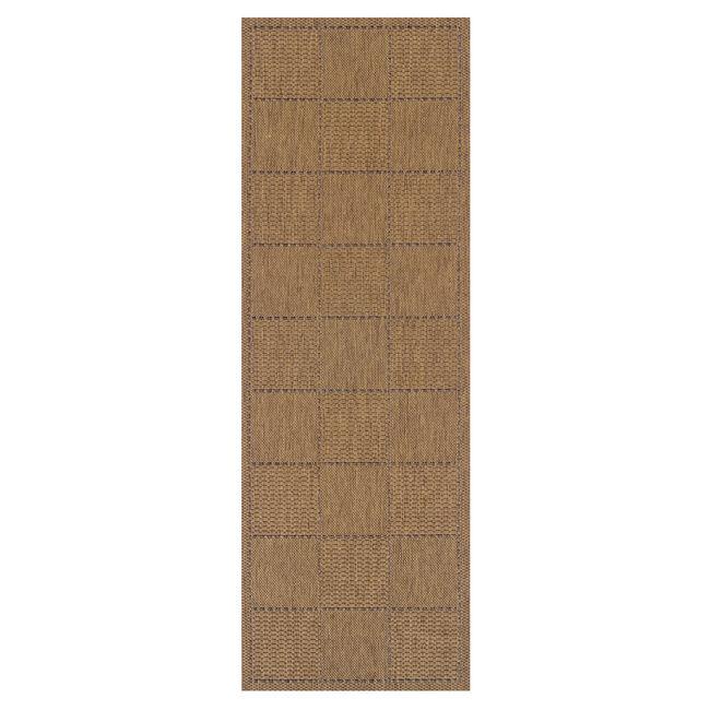 Checkered Flatweave Runner Natural 60cm x 230cm