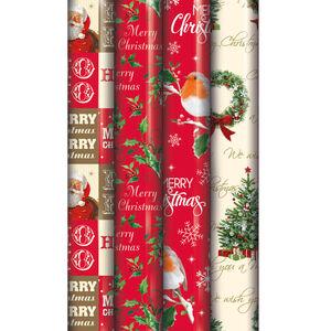 Traditional Christmas Gift Wrap 5m