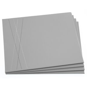 Reversible Leather Duck Egg & Grey Placemats