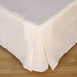 SINGLE BASE VALANCE 200 Threadcount Cotton Cream