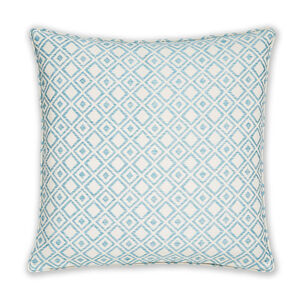 Diamond Jacquard Duck Egg Cushion 58cm x 58cm