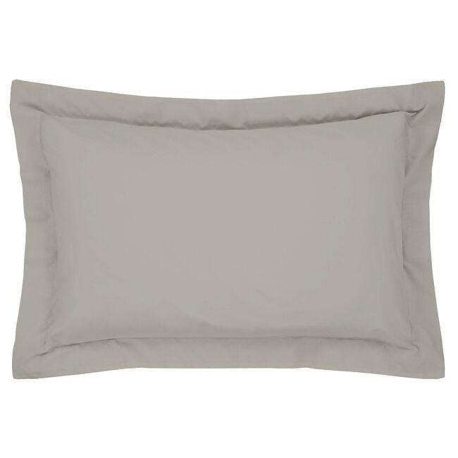 Luxury Percale Oxford Pillowcase Pair - Ice Grey