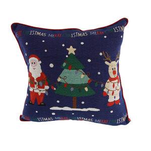 Santa & Reindeer Cushion Cover 2Pk 45cm x 45cm