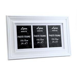 Lyon White Photo Frame Trio 4x6""